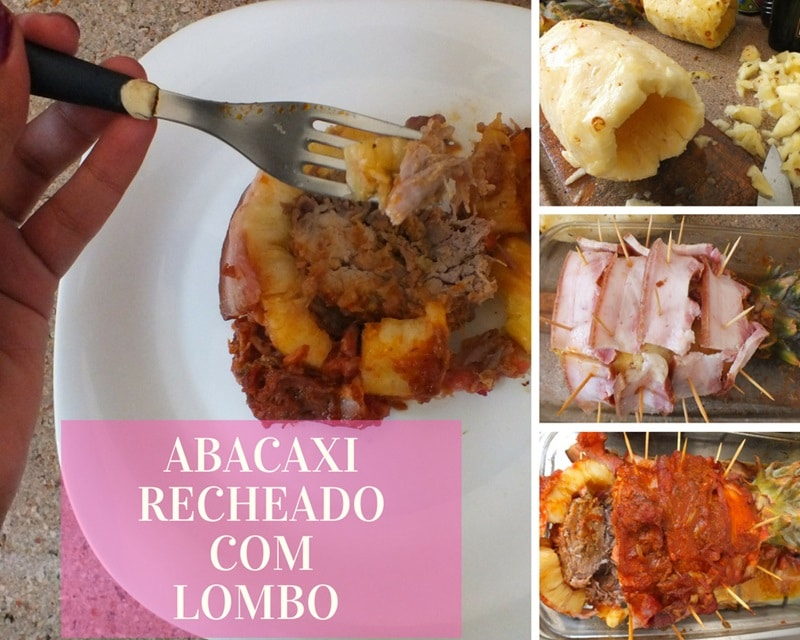 RECEITA DE ABACAXI RECHEADO COM LOMBO