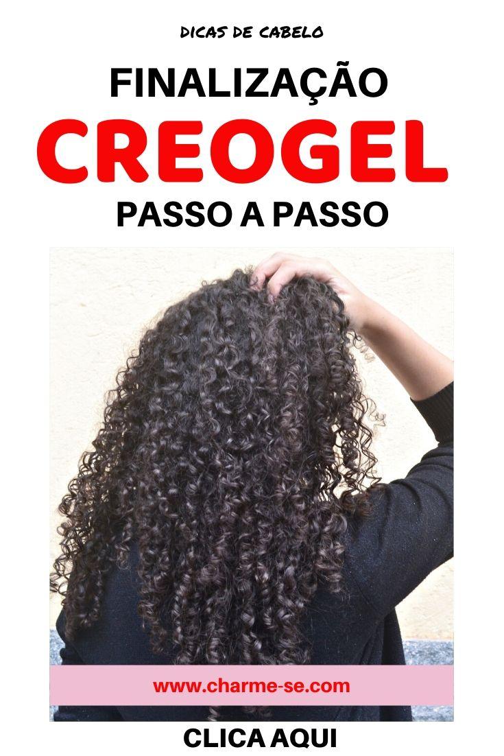 Como finalizar o cabelo cacheado: Técnica creogel ou COG